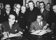 عبد الناصر والقوتلي يوقّعان على الوحدة