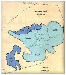 بحيرة قارون - خريطة لموقع بحيرة قارون