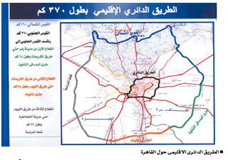 خريطة الطريق الدائري الإقليمي.