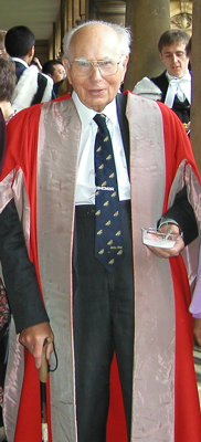 Andrew Huxley at Trinity College, Cambridge, July 2005