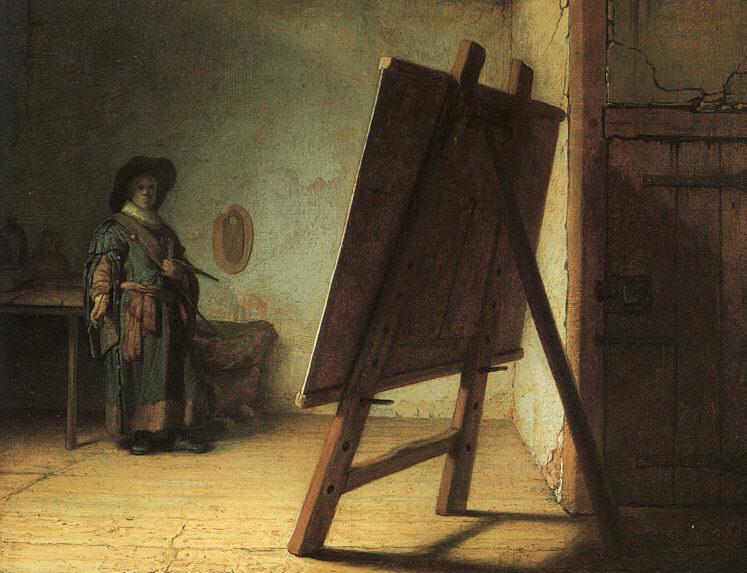 رامبرانت الرسام الهولندي Rembrandt_Artiest_in