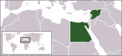 موقع الجمهورية العربية المتحدة