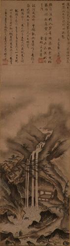فترة موروماچي، شينگي، (1431–1485)، مشاهدة شلال، متحف نزو، طوكيو.