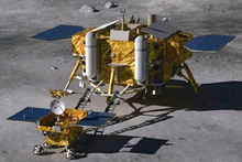Rendering of lander and rover