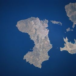 Chios as seen from space, in June 1996