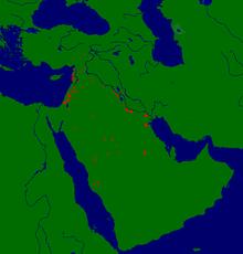 خريطة تفصلية لحملات خالد بن الوليد