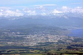 View from Mont Tendre on Lausanne