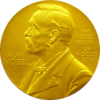 Front side (obverse) of the Nobel Prize® Medal for Physics presented to Edward Victor Appleton in 1947; photograph: David Monniaux, Appleton Tower, University of Edinburgh, 2005قالب:Puic