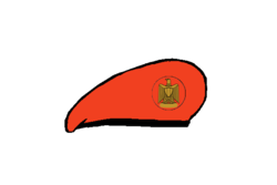 Military police brigadier Beret - Egyptian Army.png