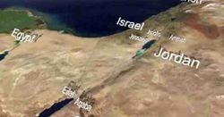 صورة فضائية توضح موقع قناة البحرين والدول المحيطة