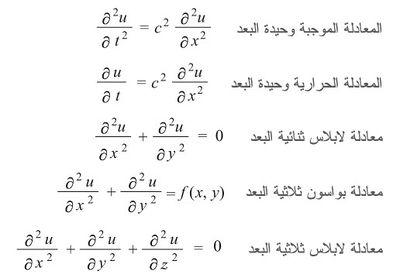 ملخص معادلات تفاضلية جزئية