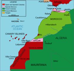 موقع محمية المغرب الفرنسية