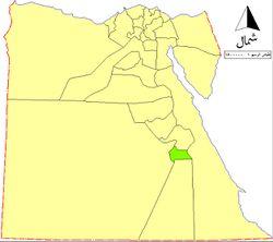 موقع محافظة الأقصر على خريطة مصر.