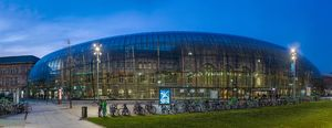 Strasbourg Railway Station at Night, Alsace, France - Diliff.jpg