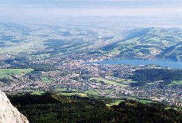 View of Lucerne from the summit of Pilatus