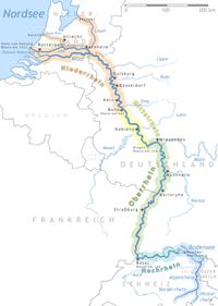 الراين هو أحد أهم الأنهار في اوروپا.
