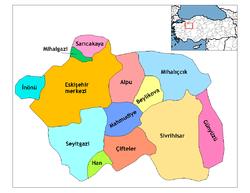 مقاطعات محافظة إسكيشهر