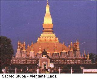 Sacred Stupa - Vientane (Laos)