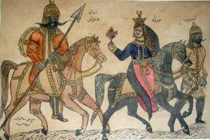 عنتر وعبلة يظهران في وشم مصري من القرن التاسع عشر الميلادي.