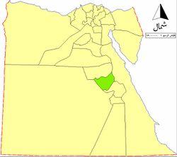 موقع محافظة سوهاج على خريطة مصر.
