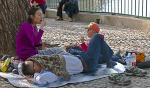 Chinese family with one child at Beihai Park, Beijing.jpg