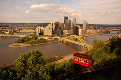 Skyline of مدينة پيتسبرگ City of Pittsburgh