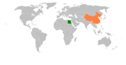 Map indicating locations of Egypt and China