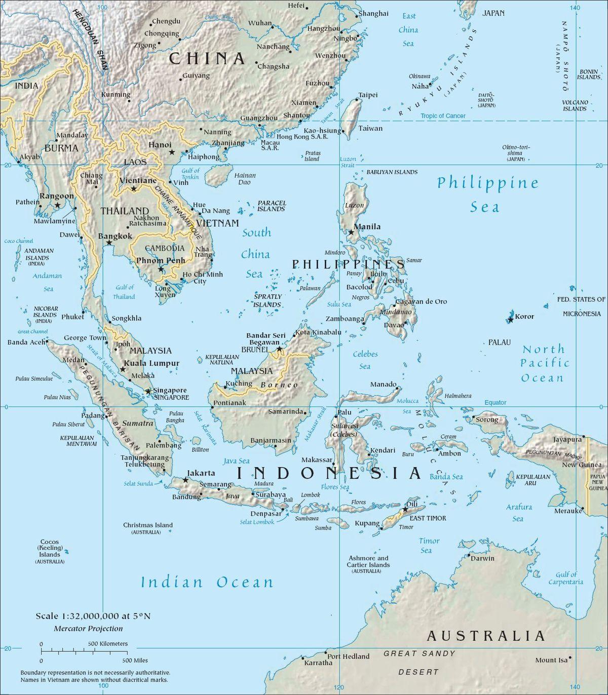جنوب شرق آسيا المعرفة