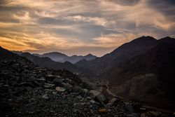 The Western Hajar Mountains in Fujairah