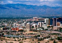 Tucson with the Catalina Mountains in background