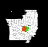 خريطة لمدينة سان لويس