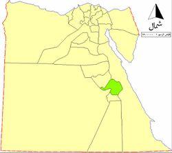 موقع محافظة قنا في مصر