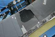 محاكاة لحافة مقدمة مكوك الفضاء مأخوذة من ديسكڤري, تظهر انهيار قـَصـِف/هش للكربون-كربون  بسبب ارتطام العازل الرغوي منتجاً نفس أوضاع الانطلاق الأخير للمكوك كلومبيا.