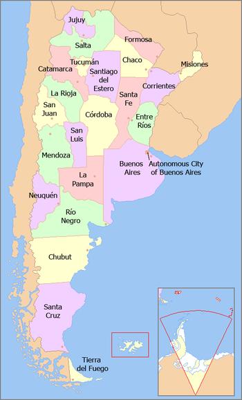 محافات الأرجنتين.
