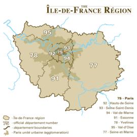 باريس Paris is located in إل-دى-فرانس (منطقة)