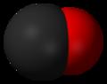 نموذج مالئ للفراغ لجزيء أول أكسيد الكربون