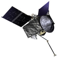 Artist's rendering of the OSIRIS-REx spacecraft.