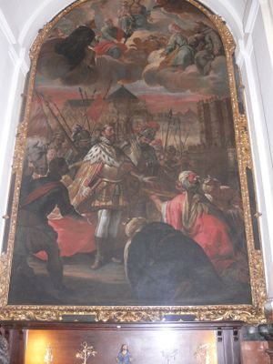 Fall of Cordoba Painting in Mezquita.JPG