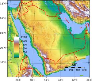 طبوغرافيا السعودية