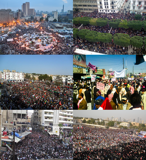Collage for MENA protests