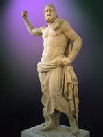 پوسايدون من ميلوس، القرن 12 ق.م (المتحف الجيولوجي الوطني في أثينا)