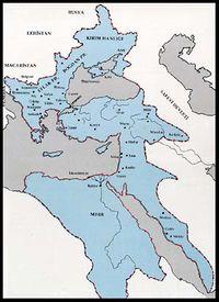 خريطة الدولة العثمانية في نهاية عهد سليم الأول