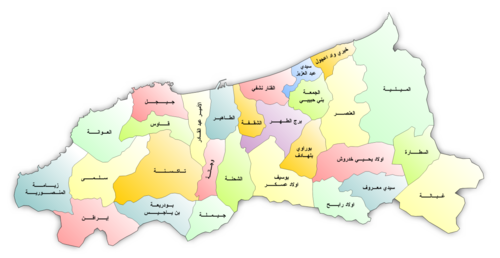 خريطة بلديات ولاية جيجل