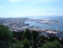 Vigo as seen from Monte do Castro