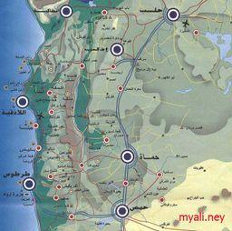 خريطة جبل العلويين