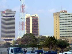 View of Lusaka's Central Business District