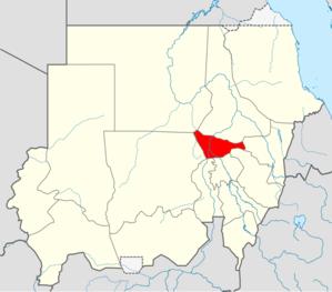 موقع الخرطوم في السودان.