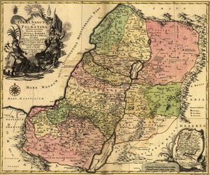 1759 map Holy Land and 12 Tribes PALESTINE 1759.jpg
