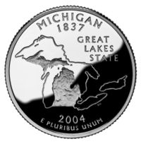 Michigan quarter, reverse side, 2004.jpg