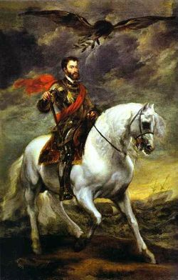 Anthony van Dyck- Portrait of Charles V on Horseback.JPG